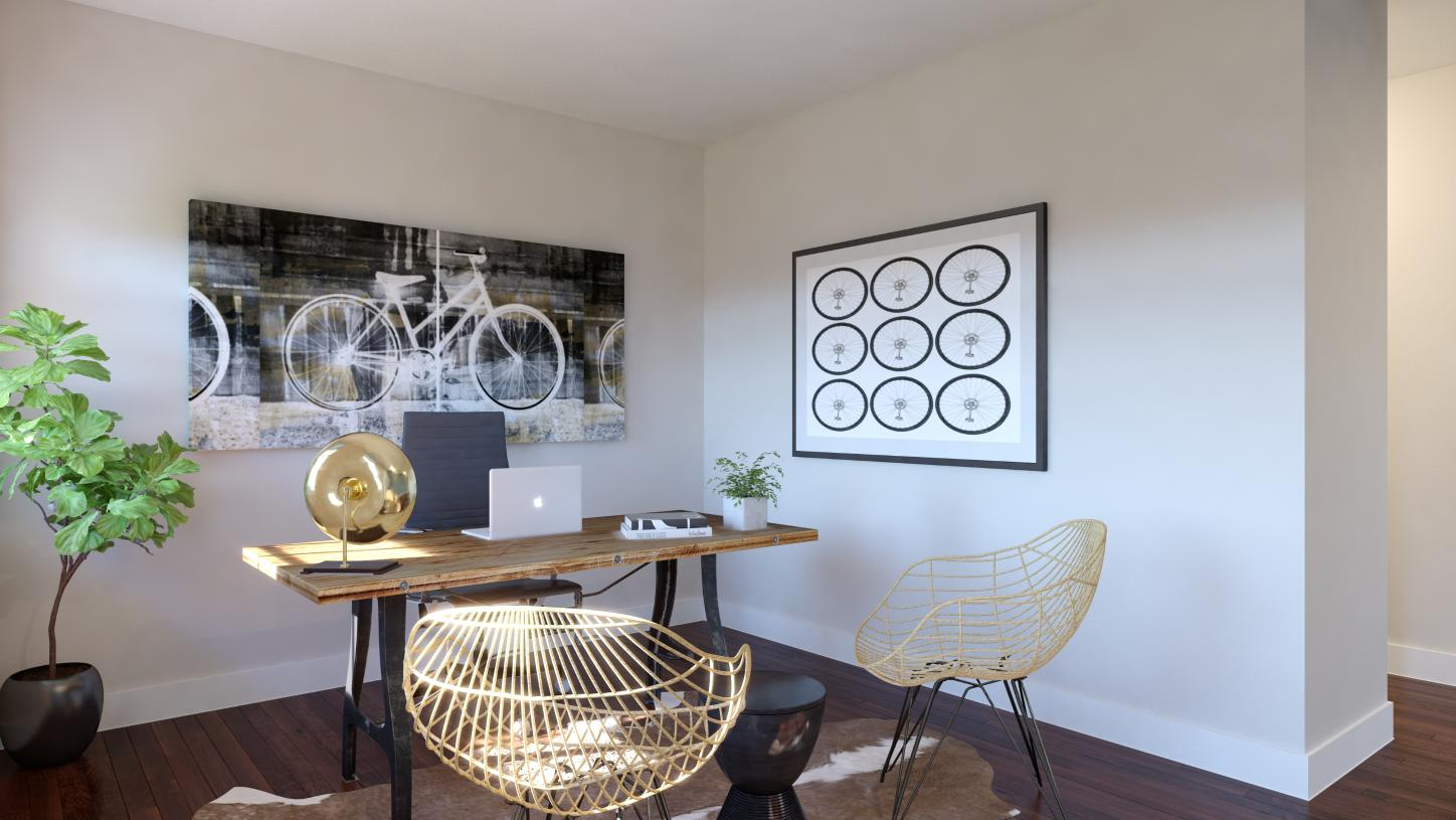 First-floor flex space – Perfect for a home office