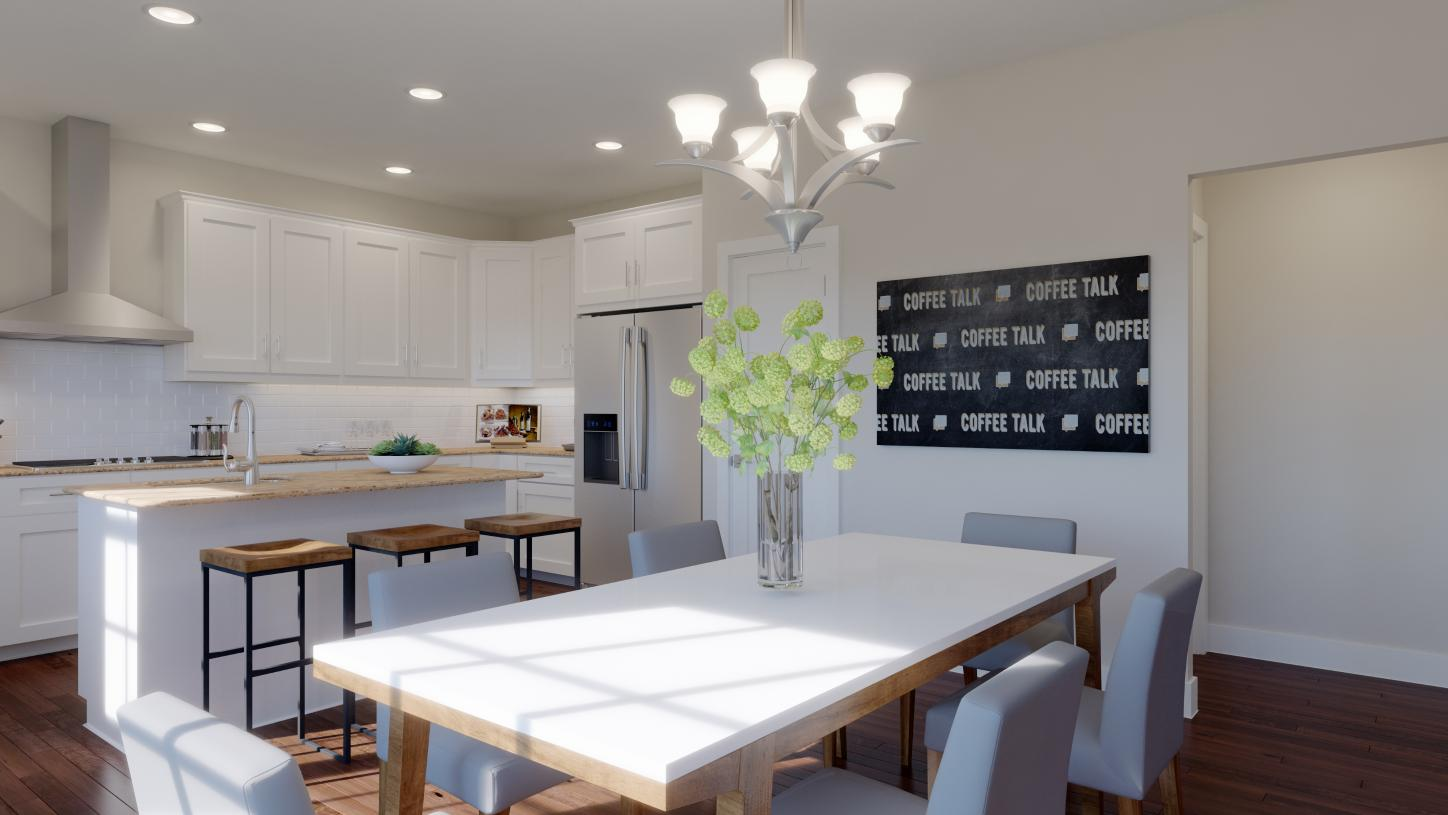Gorgeous kitchen and casual dining area
