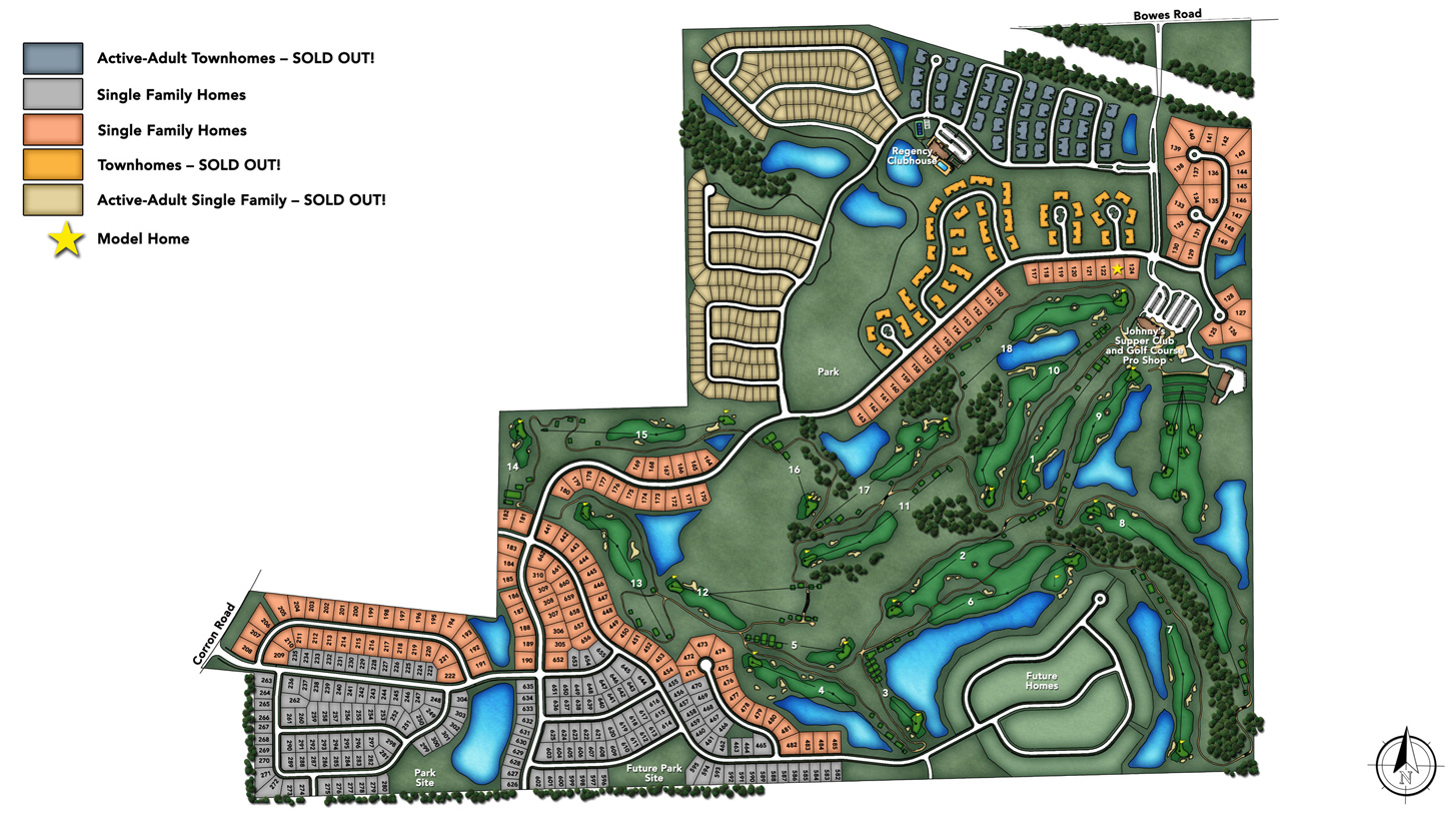 Bowes Creek Country Club Overall Site Plan