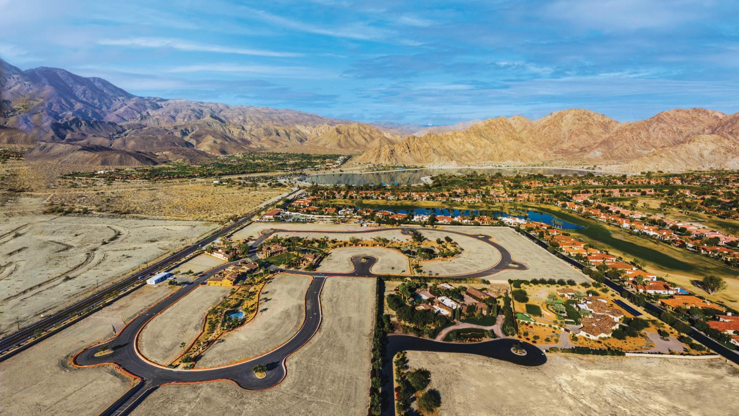 Home sites with desert mountain views