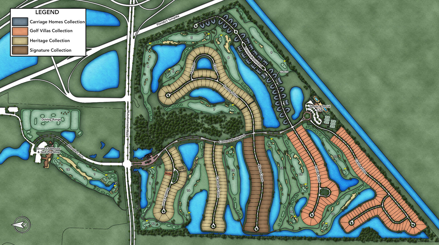 Jupiter Country Club Overall Site Plan