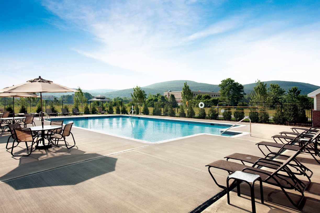 Relax by out heated outdoor pool