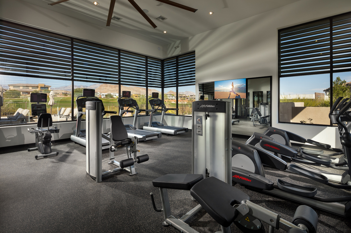 Enjoy access to the private fitness center at the Fairway Hills Clubhouse