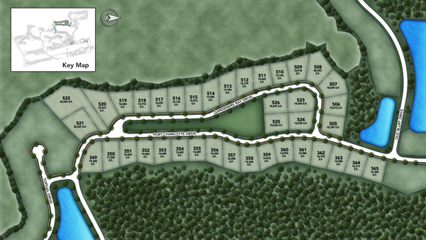 Coastal Oaks at Nocatee - Signature - Gardeners Bay Site Plan