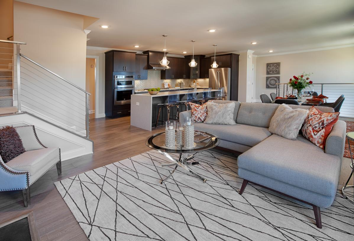 Spacious great room for entertaining guests