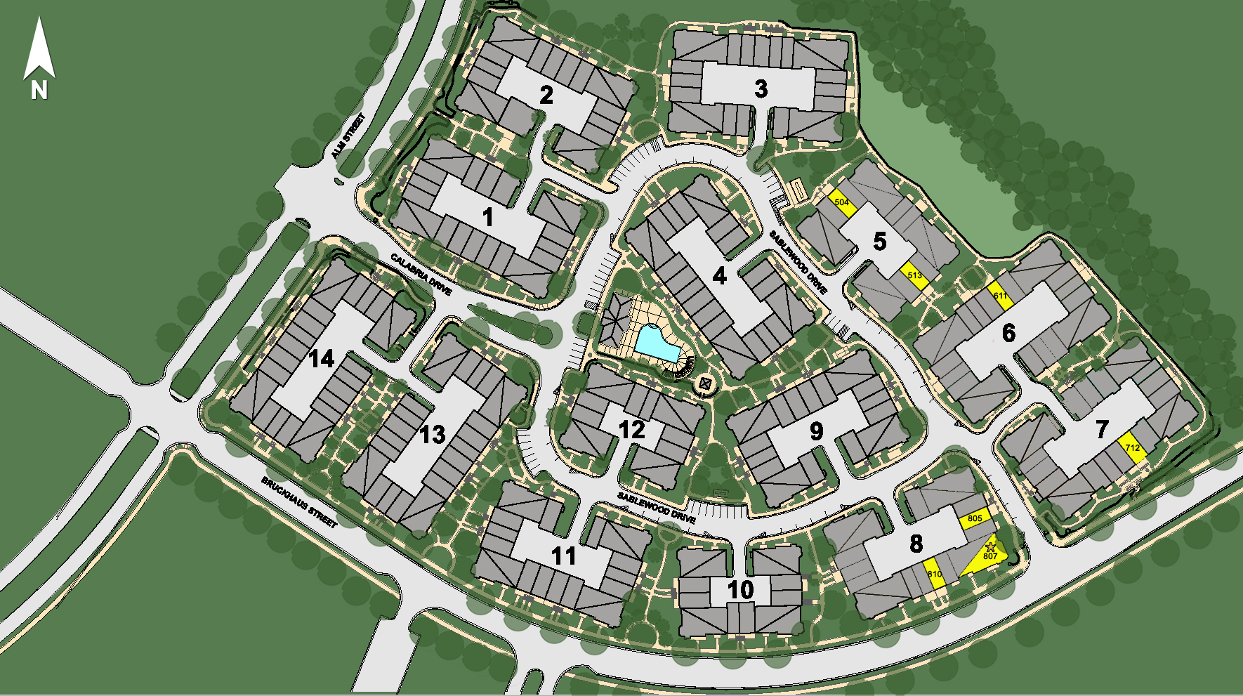 The Cottages at Brier Creek Site Plan
