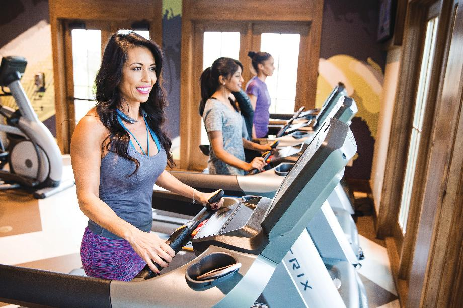 Working out has never been easier at Sienna's fitness center