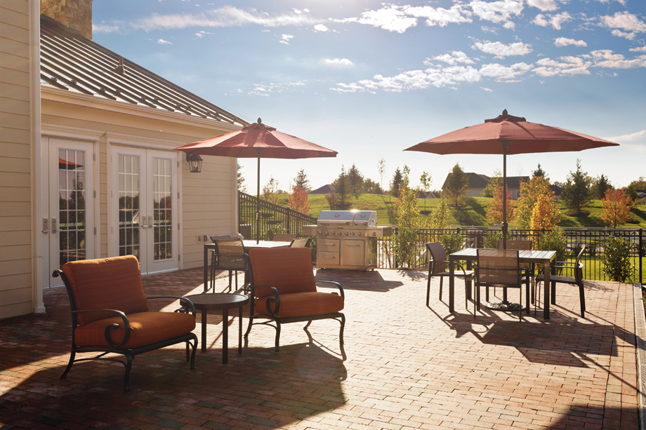 Relax with friends at the clubhouse's Party Patio