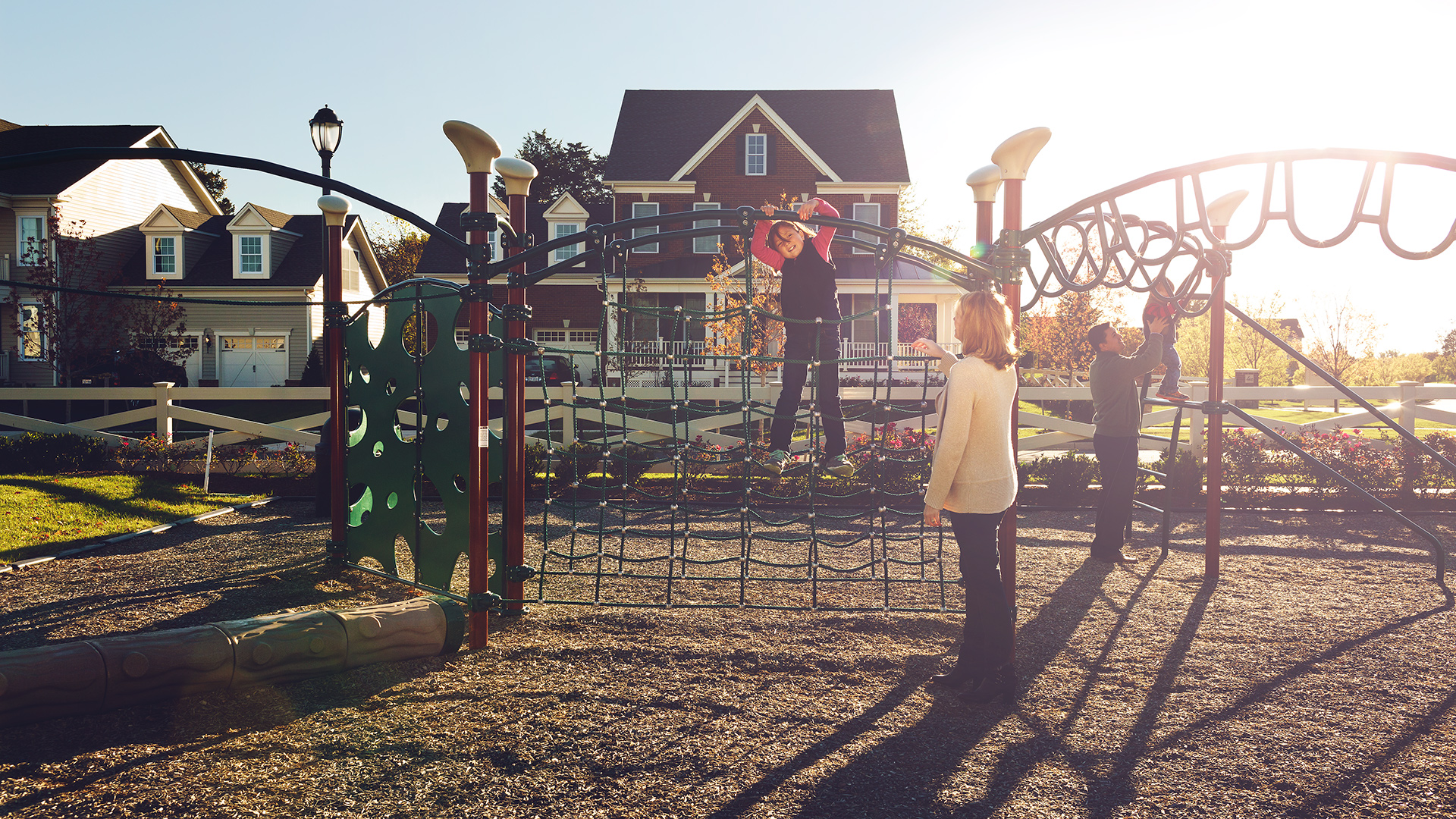 Tot lots and parks provide a fun place to play