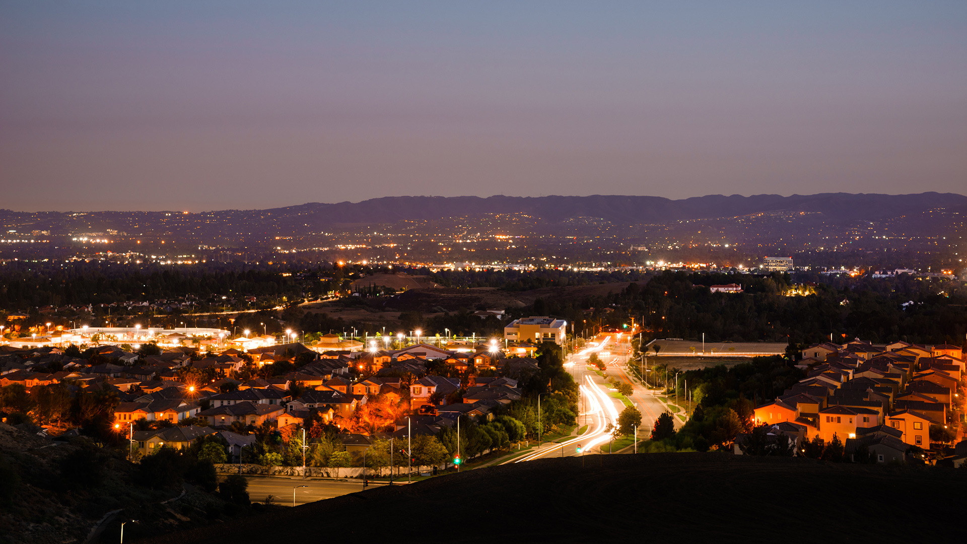 Porter Ranch City lights view
