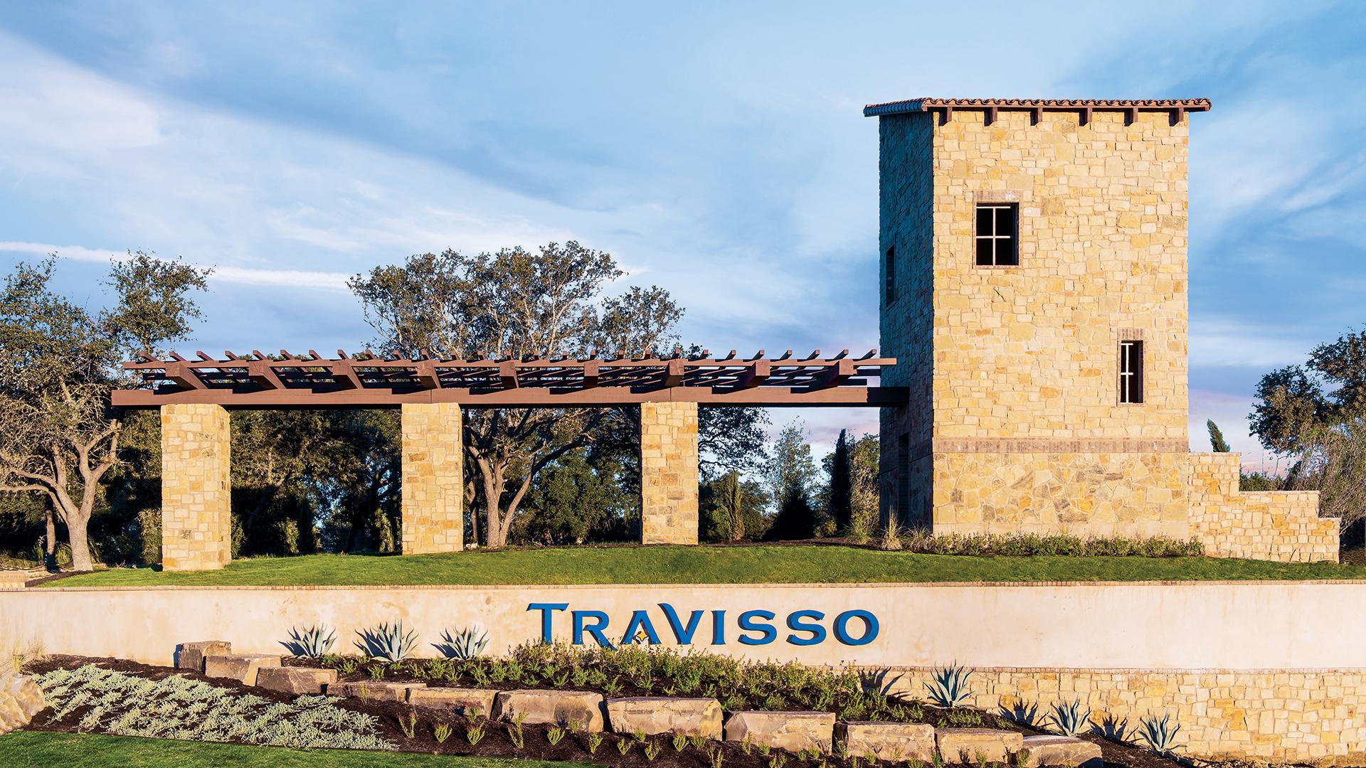 Welcoming Travisso community entrance