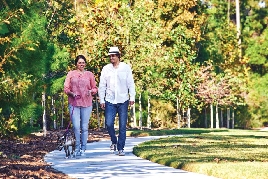 Hiking and biking trails run throughout Woodson's Reserve
