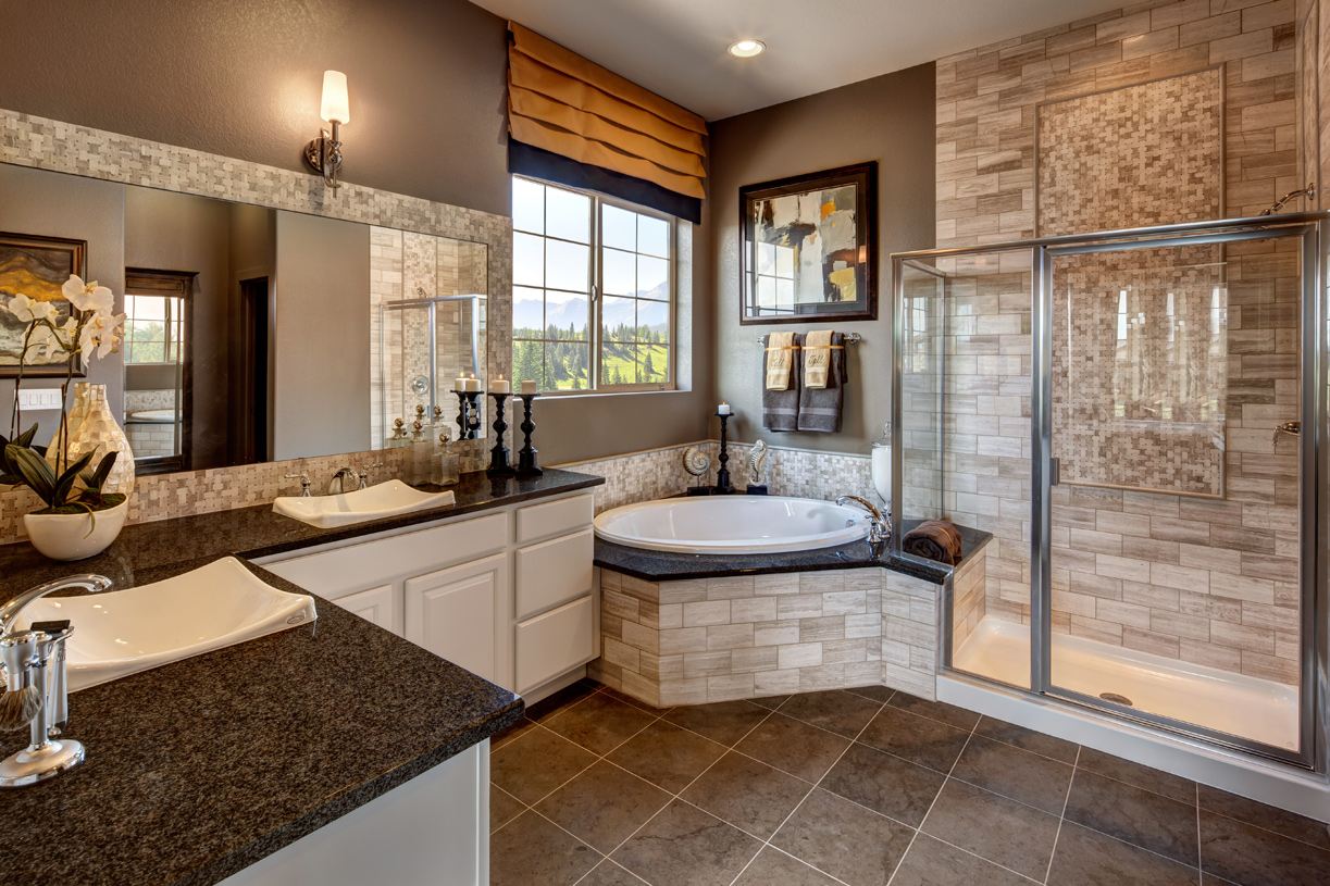 new home floor designs. Dunraven Master Bath Aurora CO New Homes  Planned Community Toll Brothers at