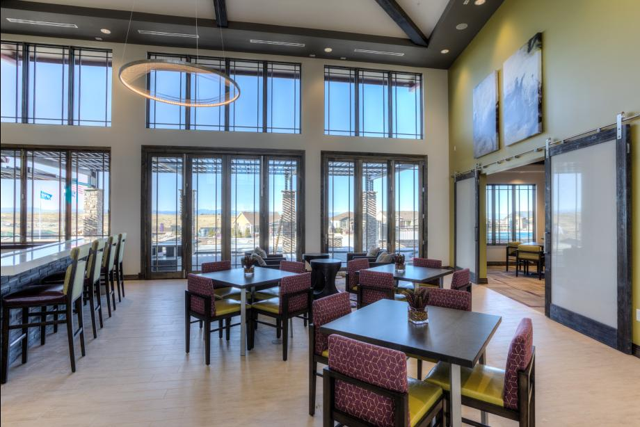 Hilltop Club cafe seating and event space