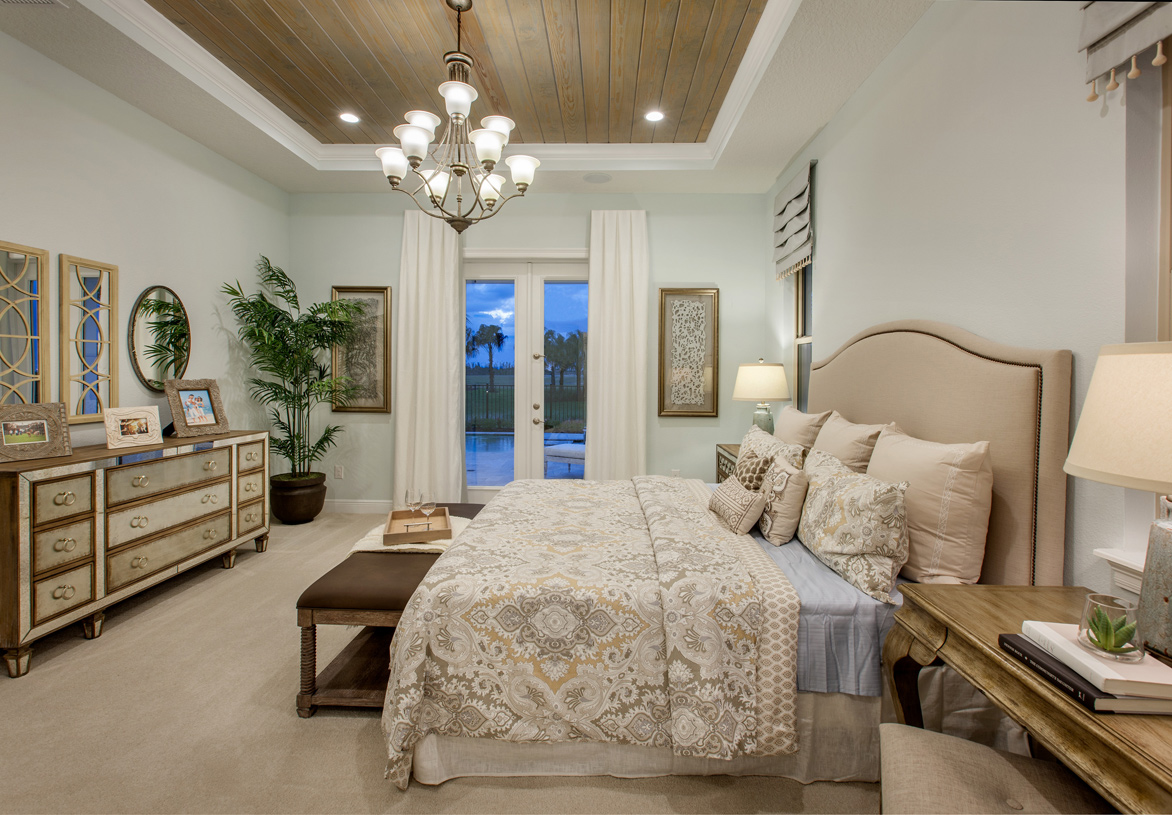 luxurious master bedrooms - New Homes Winter Garden Florida