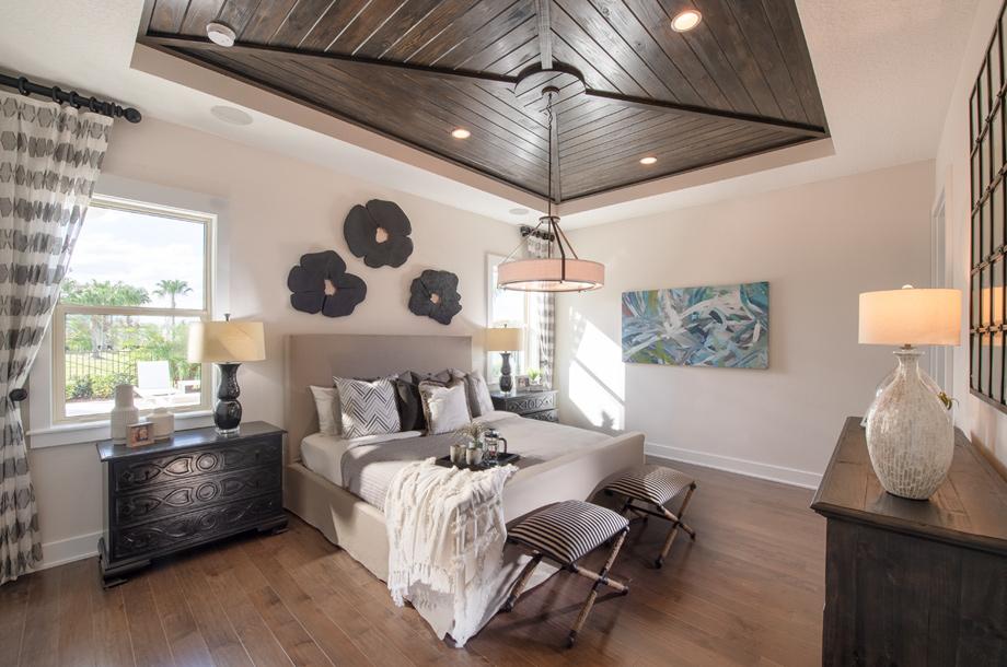 Elegant primary bedroom suites