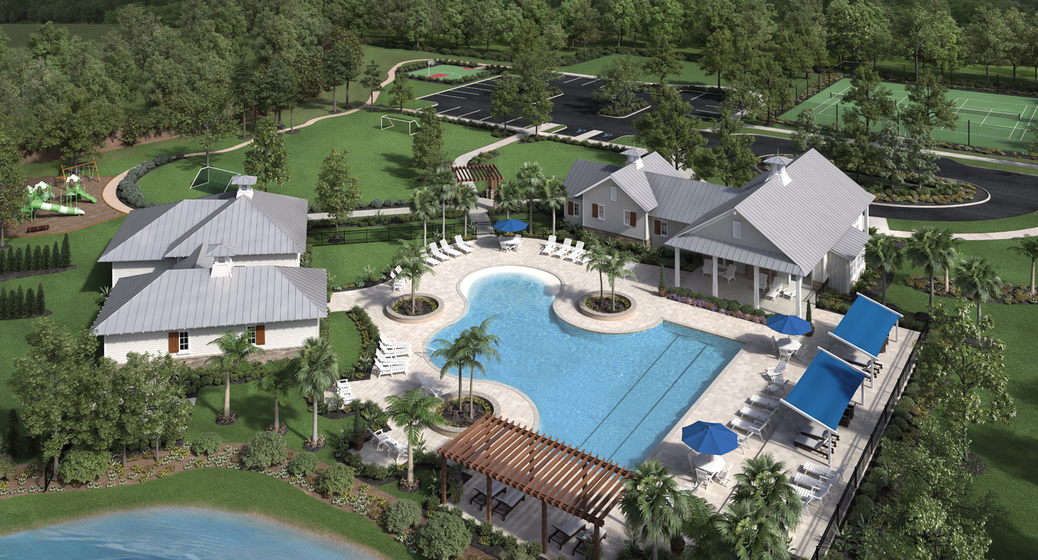 St johns fl new homes master planned community julington lakes - Rectangle pool aerial view ...