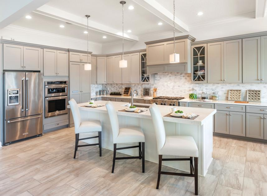 Gourmet kitchen with large islands perfect for entertaining