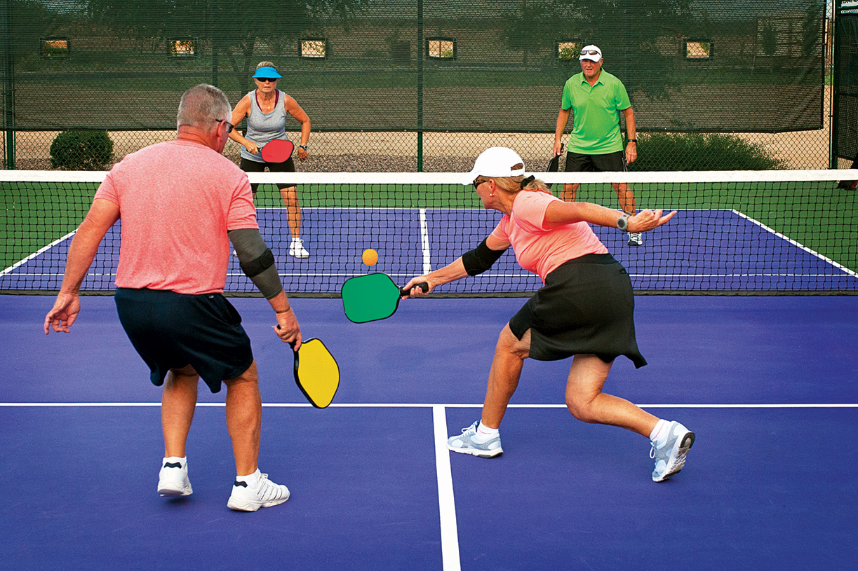 55 and over living in las vegas - Play An Invigorating Pickle Ball Game With Friends At The Clubhouse Courts
