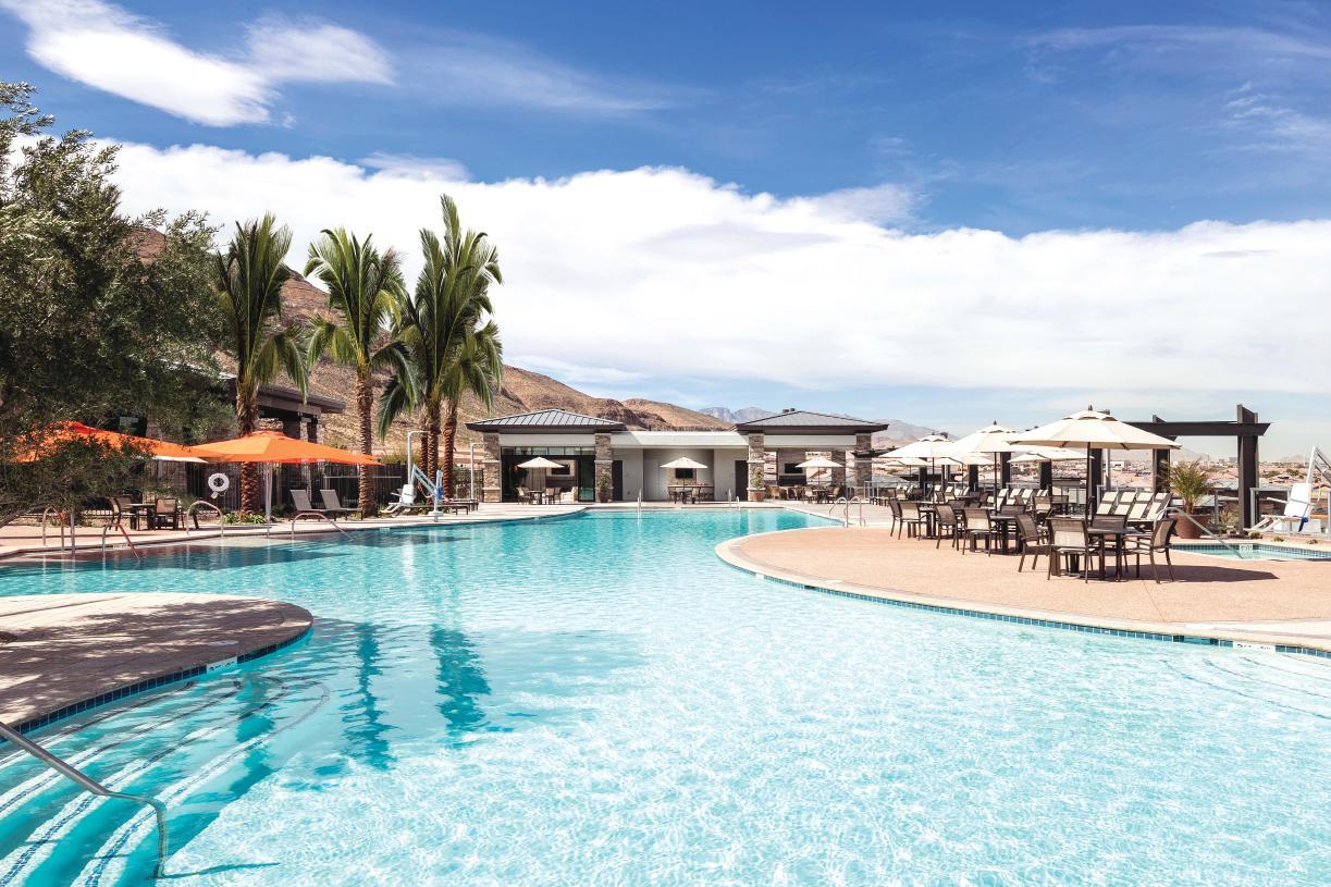 Outdoor, refreshing pool