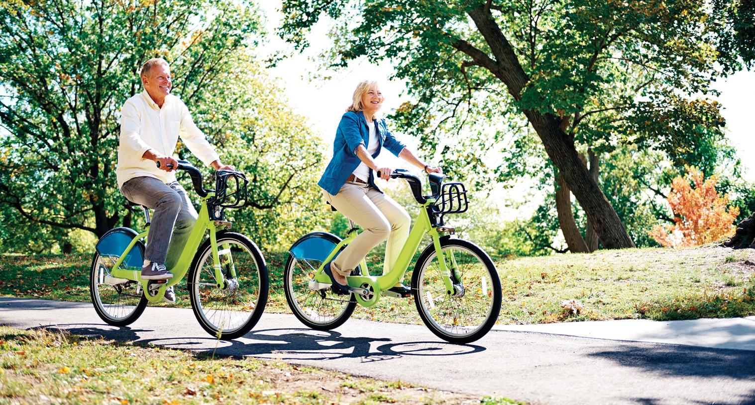 Regency at Creekside has miles of walking and biking paths.