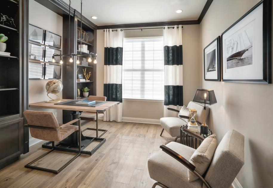 Flexible living spaces perfect for a home office