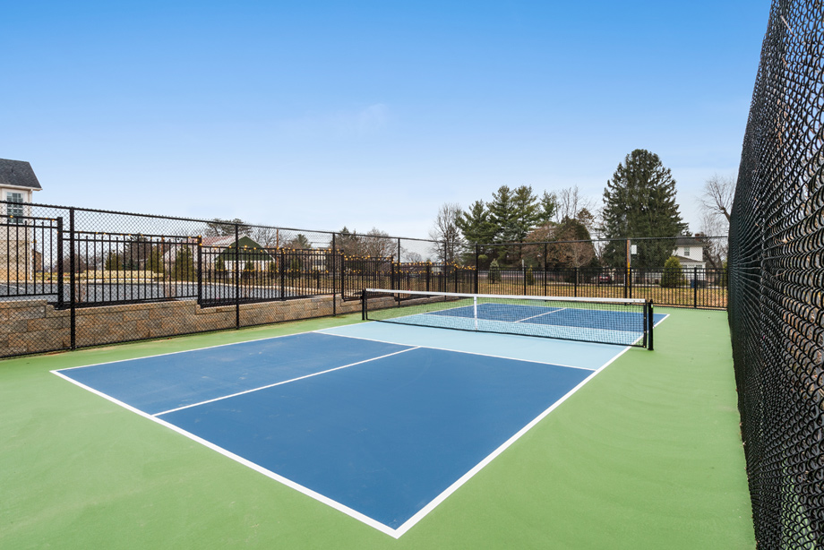 Play tennis at the community court