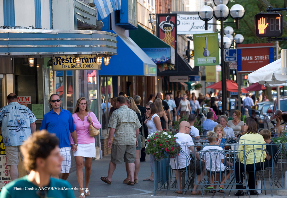 Ann Arbor offers a diverse selection of shops, restaurants, and nightlife. PHOTO COURTESY OF AACVB