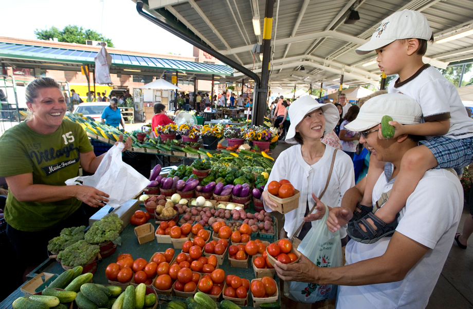 Ann Arbor's famed Weekly Farmer's Market in Kerrytown offers fresh produce and more. PHOTO COURTESY OF AACVB