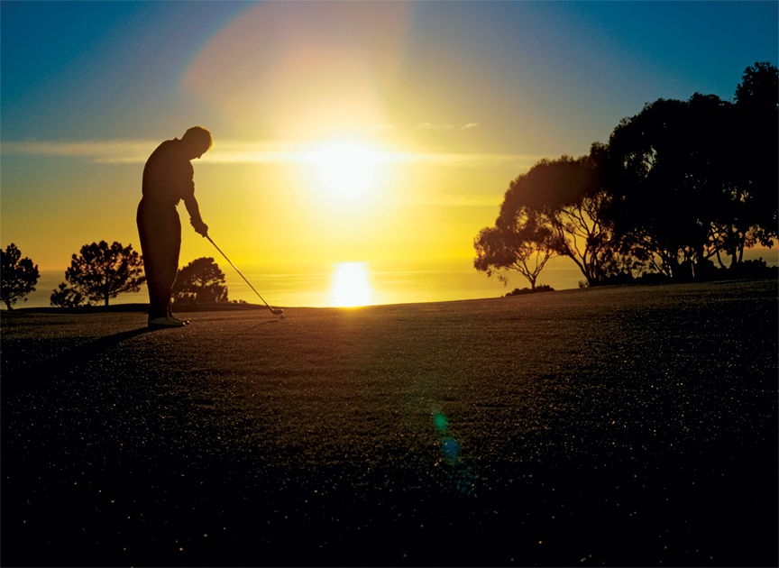 There are several public and private golf courses located near Plum Canyon