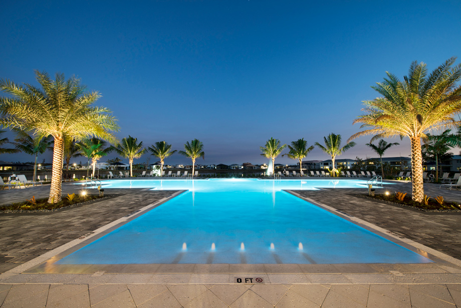 Pool at the Azure at Hacienda Lakes clubhouse