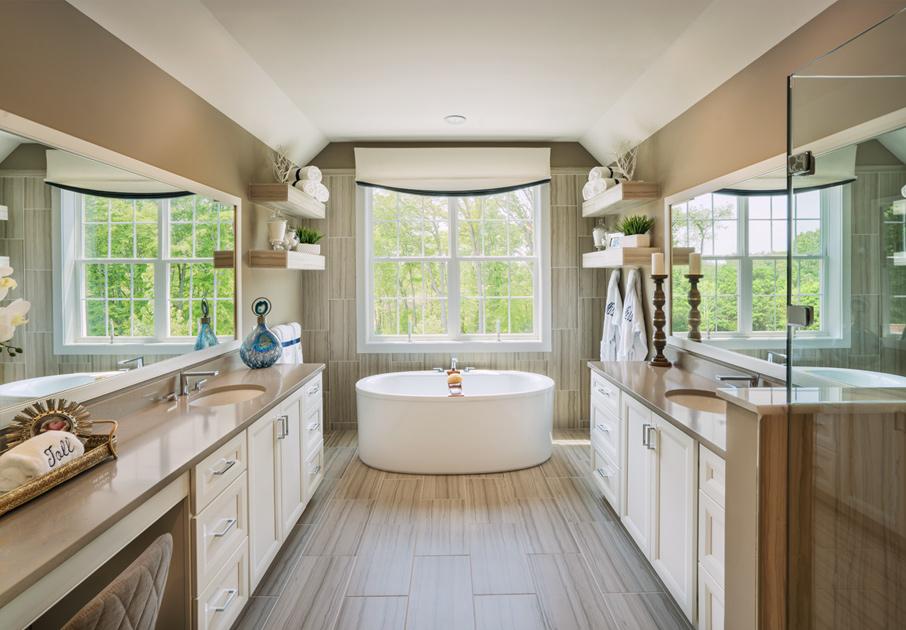 Impressive spa-like primary bathrooms