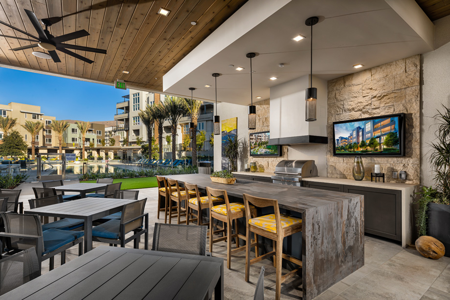 Outdoor barbecue areas