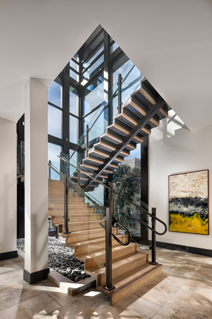 Gorgeous floating staircase