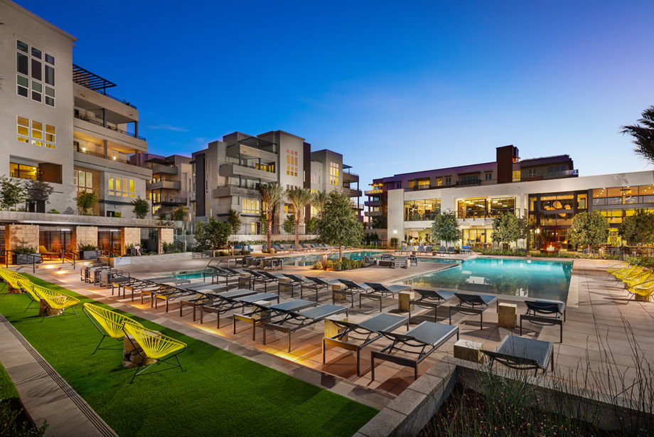 Resort-style clubhouse within heart of community