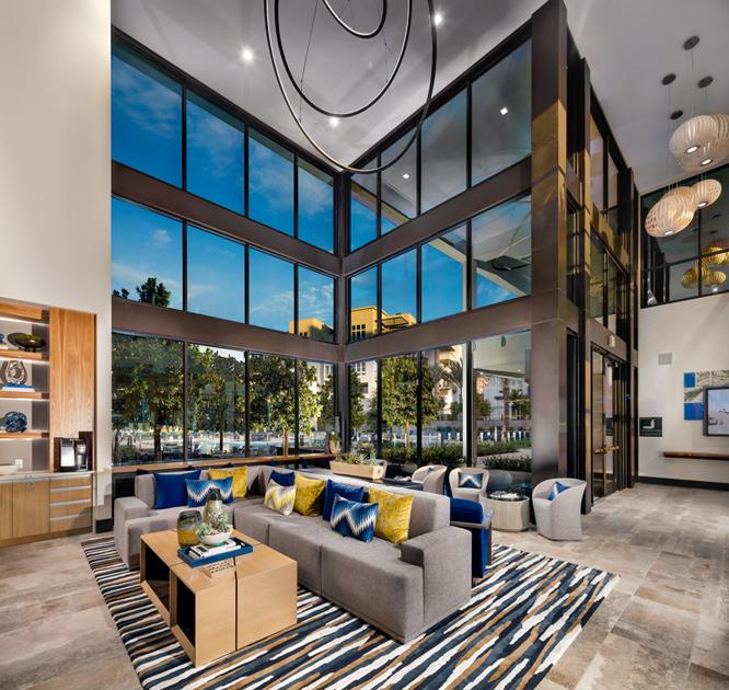 Lounge with coffee bar