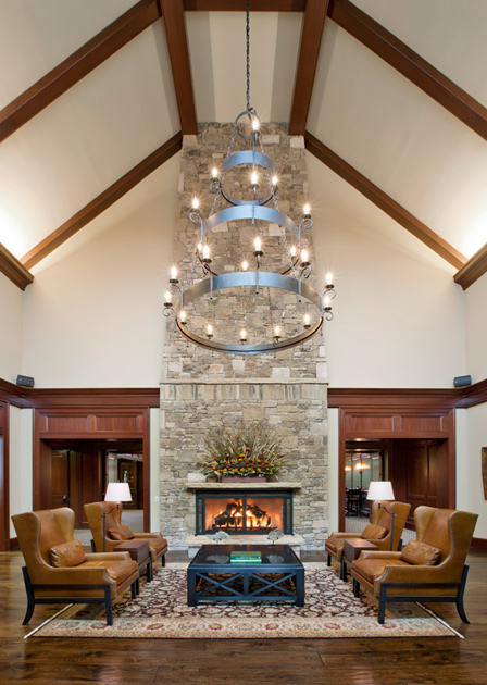Community clubhouse lobby
