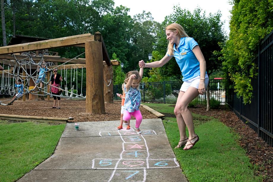 Child care at the Child Development Corner