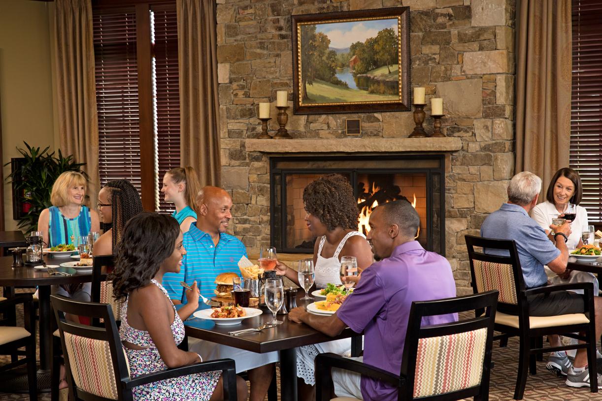 Enjoy a leisurely dinner at The Oak Restaurant