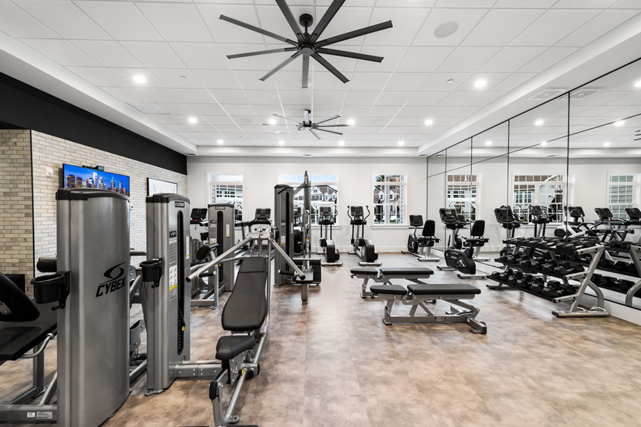 Stay fit year round in the residents' fitness center