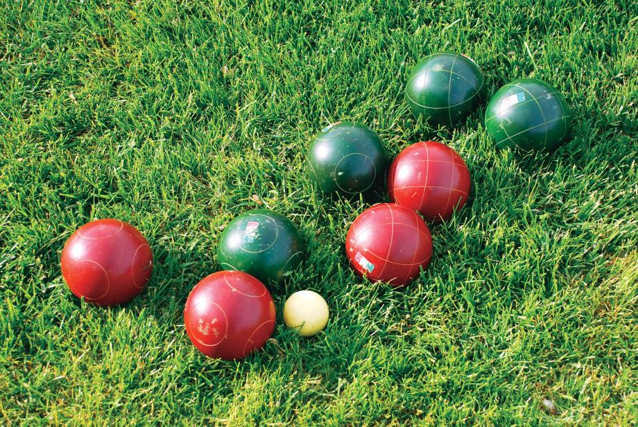 Bocce courts at the clubhouse