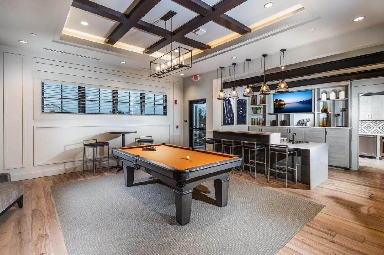 Grab friends for a game of pool or shuffleboard