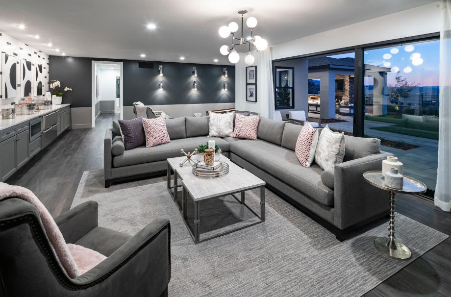 Finished basement options for entertaining and relaxation