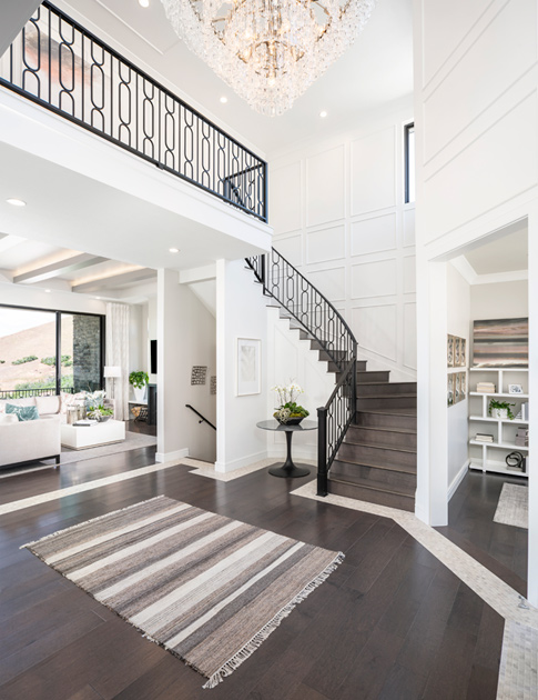 Grand two-story foyers with impeccable views
