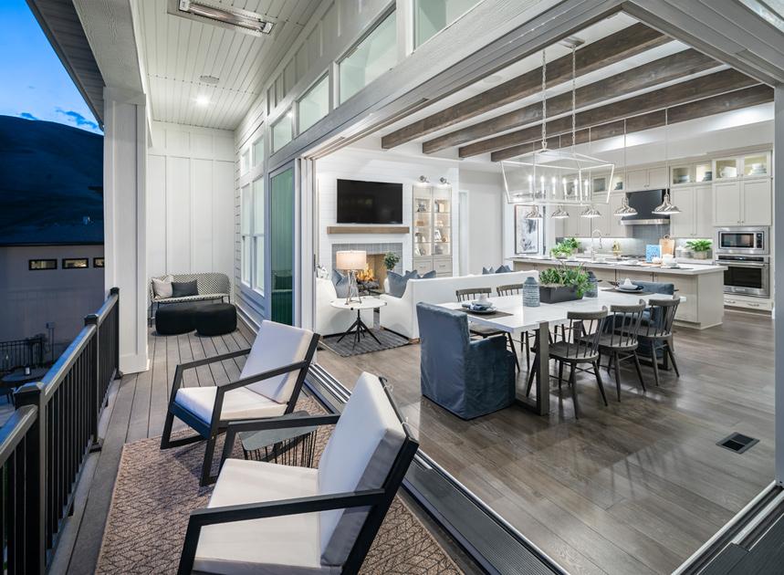 Open-concept great rooms with multi-slide doors that is ideal for indoor outdoor living