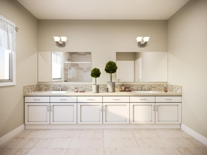 Dual primary vanities for the modern bathroom oasis