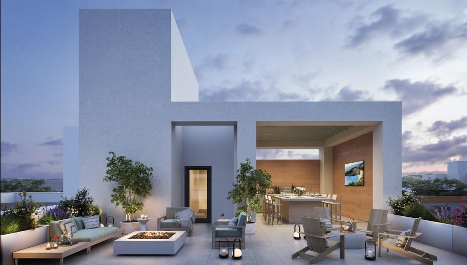 Penthouse roof terraces available