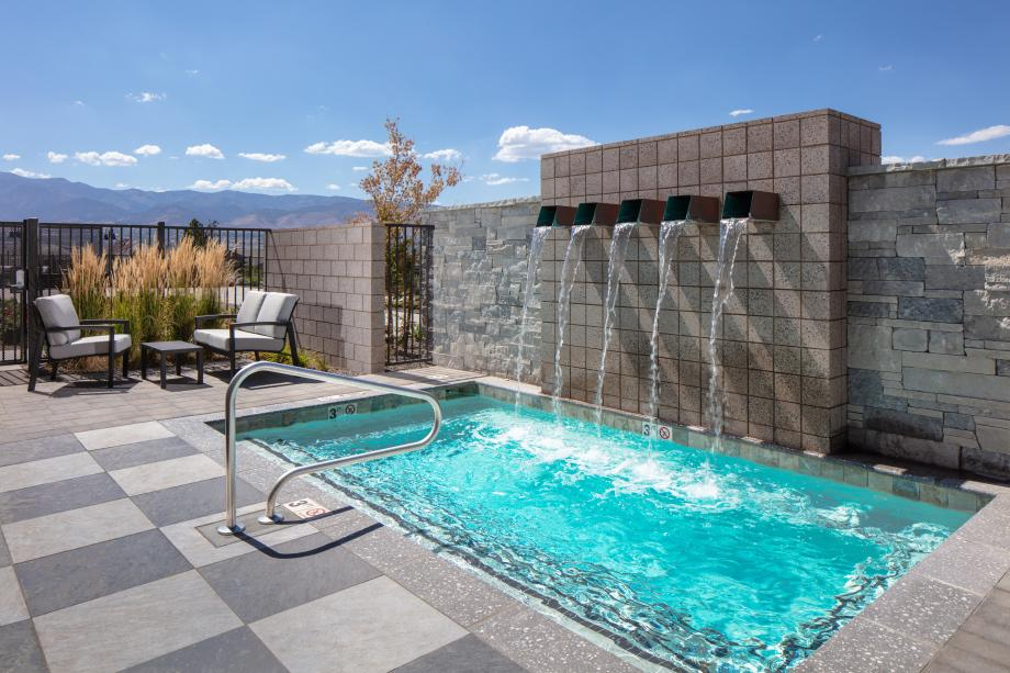 Relax in the outdoor spa