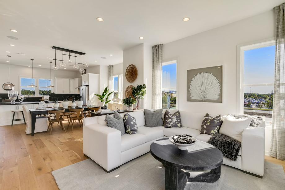 Open concept townhomes at The Braddock Collection