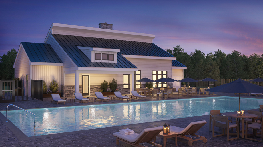 Enjoy summer days at the clubhouse pool